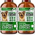 MediPaws® Hemp Oil for Dogs Twin Pack (x2) | Dog Calming Organic Hemp Oil | Omega 3 6 9 | Certified High Strength 50000mg