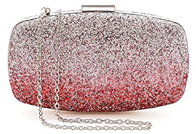 Yuenjoy Womens Evening Bags Wedding Clutch Purse with Gradient Colors Glitter