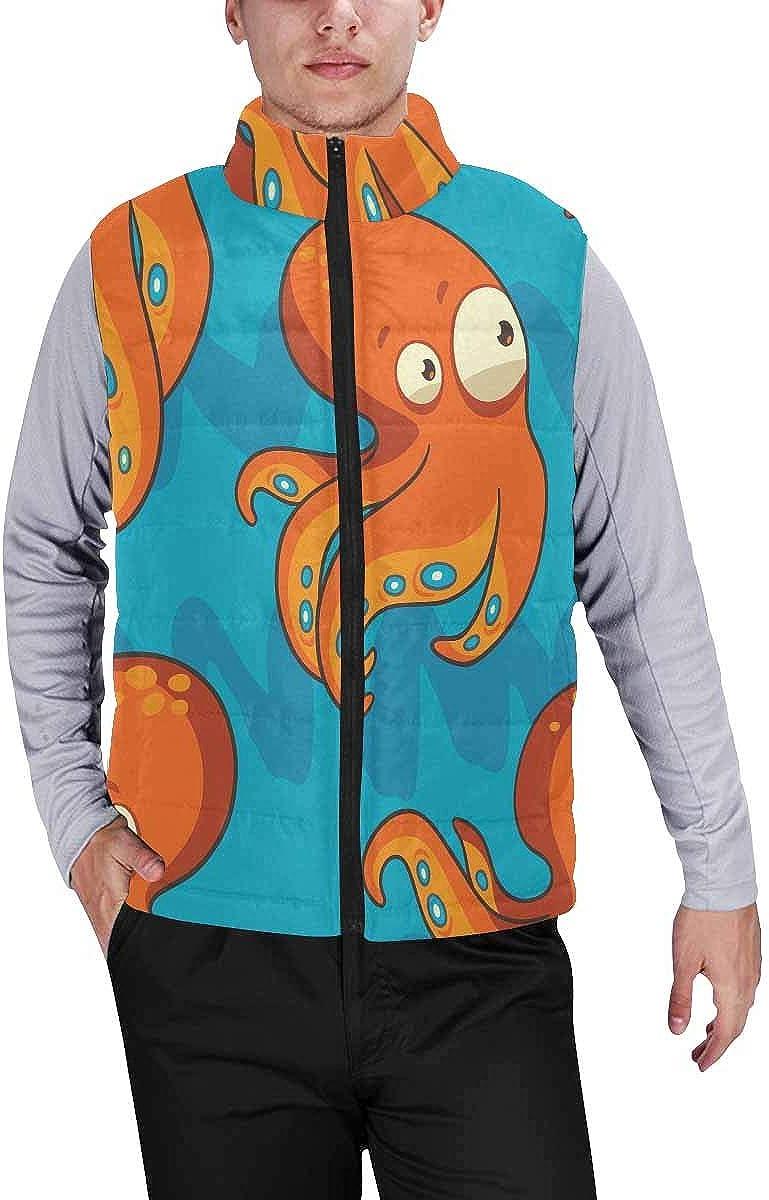 InterestPrint Men's Soft Full Zip Sleeveless Jacket for Running, Hiking Old Wooden Shutters on a Wooden Wall