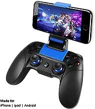 Controlador para iOS, PowerLead Inalámbrico Mando de juego Gamepad Compatibilidad con iOS y Android iPhone iPad Samsung Galaxy Otro teléfono - Juego directo