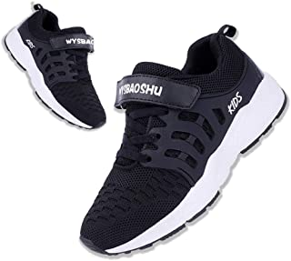 [WYSBAOSHU] スニーカー キッズ 子供靴 運動靴 男の子 女の子 軽量 通気 柔軟 滑り止め スポーツシューズ 通学履き カジュアルシューズ クッション性 メッシュ