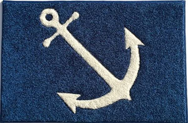 Anchor Mat Welcome Aboard Mat And Boarding Mats Carpet With Rubber Backing 27 X 18 Anchor Blue