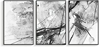 NWT Framed Canvas Wall Art for Living Room, Bedroom Abstract Ink Painting Canvas Prints for Home Decoration Ready to Hanging - 24