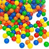 LittleTom 50 Bunte Bälle für Bällebad 5,5cm Babybälle Plastikbälle Baby Spielbälle