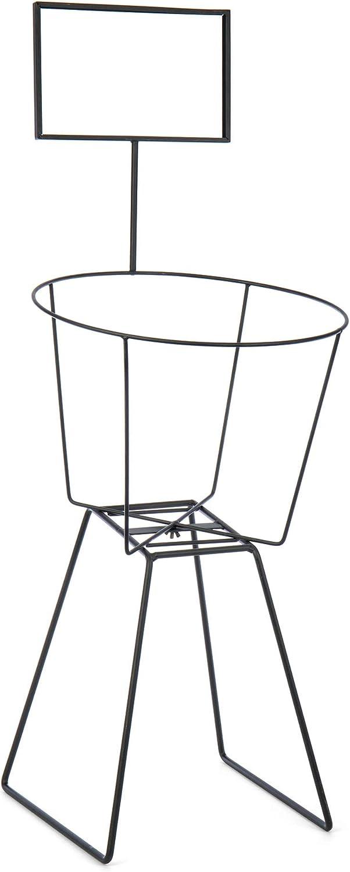 Iron Credence Round Basket El Paso Mall Rack Display