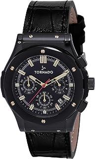TORNADO Men's Chronograph Black Dial Watch - T8120-BLBBG