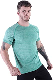 HMILES Men's Running Tee Shirts Short Sleeve Workout T-Shirts Male Active Training Tee Regular Fit Crew Neck Top Sports Shirt