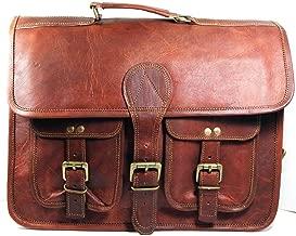 Skyland 20 Inch Leather Messenger Bag Shoulder Men Laptop Briefcase Vintage Satchel
