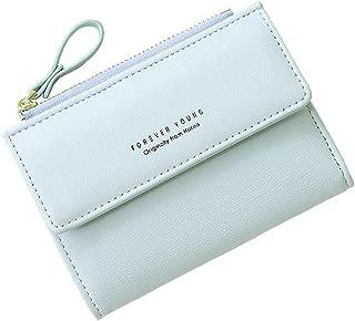Women Small Wallet Lady Mini Purse Bifold Leather Short Wallet RFID Blocking with ID Window