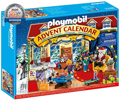 Playmobil- Calendario dell'Avvento Il Negozio dei Giocattoli di Natale, dai 4 Anni, 70188