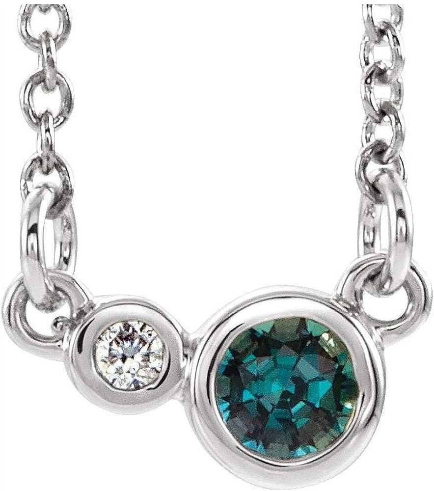 Two Stone Bezel Set Gemstone Diamond Charm Ranking TOP1 Pendant Atlanta Mall and