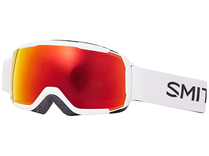Smith Optics Grom CP Goggle (Youth Fit) (White/Chromapop Everyday Red Mirror) Snow Goggles