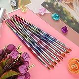 Praktische Nail Art Flower Drawing Brush, Pinsel, Nail Decor Nail Art Pen, langlebig für Home...
