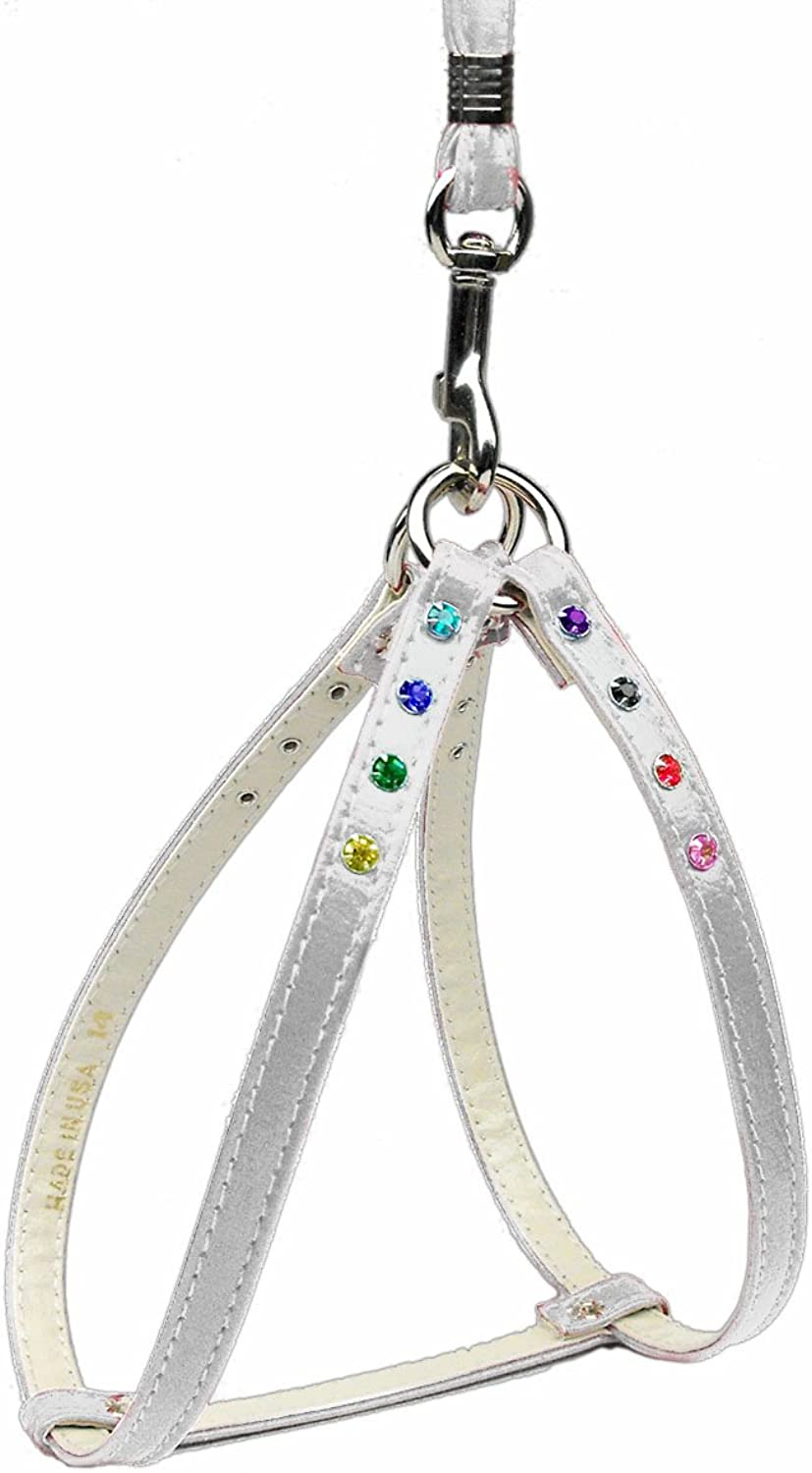 Dog   Cat   Pet Charms Confetti Step In Harness White 14