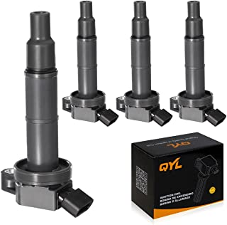 QYL Pack of 4Pcs Ignition Coils Compatible with Toyota Camry Solara Rav4 Highlander/Scion Tc Xb #UF333 C1330 6731307 90919-02244