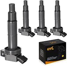 QYL Pack of 4Pcs Ignition Coils Replacement for Toyota Camry Solara Rav4 Highlander/Scion Tc Xb #UF333 C1330 6731307 90919-02244