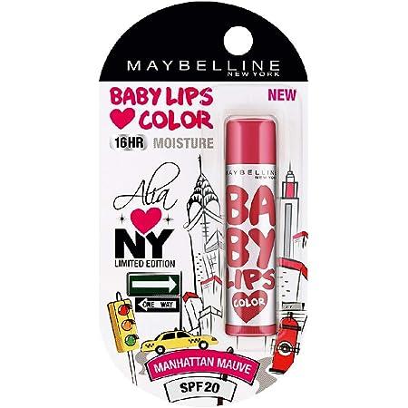 Maybelline New York Baby Lips Loves NYC Lip Balm, Crème Finish, 4g - Manhattan Mauve