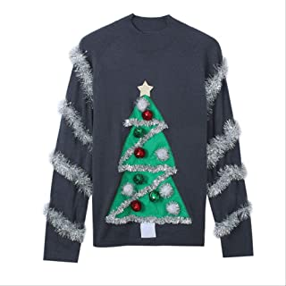 AHJSN Jumper Snowman Deer Sweaters New Santa Claus Xmas Patterned Ugly Christmas Sweaters Tops 4XL Christmas 01