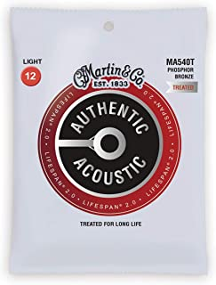 Martin Guitar Authentic Acoustic Lifespan 2.0 MA540T, 92/8 Phosphor Bronze, Treated Light-Gauge Strings