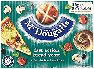McDougalls Fast Action Dried Yeast Sachets - 8 x 7g (0.12lbs)
