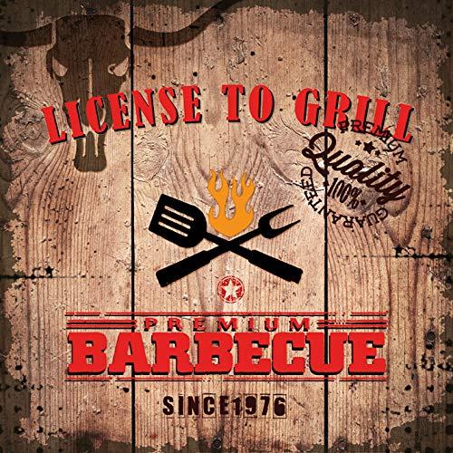 20 Servietten Lizenz zum Grillen   Barbecue   Sommer   Tischdeko 33x33cm