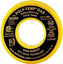 ANTI-SEIZE TECHNOLOGY 46330 Yellow PTFE Poly-Temp Extra Heavy Duty Gas Line Tape, 260