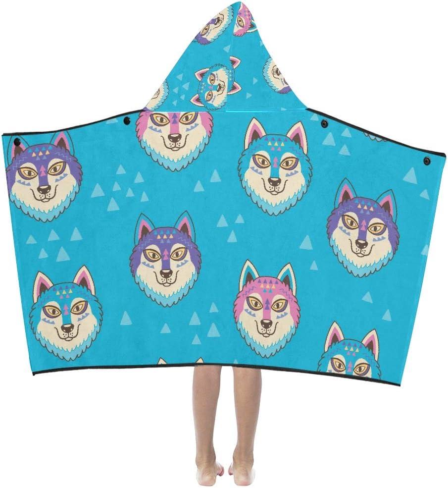 Regular dealer Hooded Blankets Sale for Toddlers Seamless Huskys Pattern Trib Wolves