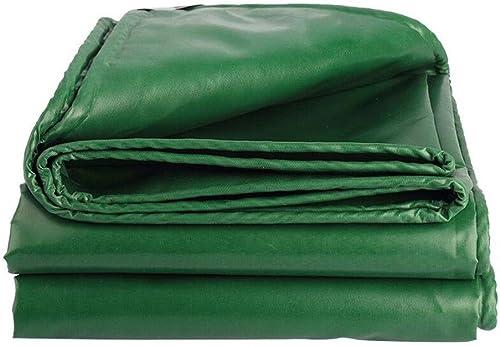 CJC Voiles d'ombrage Heavy Duty Bache Doux Et Durable Double Face étanche pour De Plein Air Jardins Un Camion (Couleur   vert, Taille   6x8m)