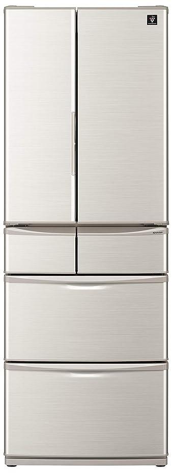 年金蒸留真珠のようなシャープ SHARP プラズマクラスター 冷蔵庫 (幅65.0cm) 455L 6ドア (観音開き?フレンチドア) シルバー系 SJ-F462E-S