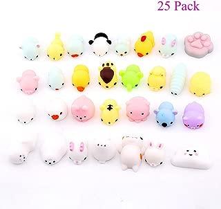 Magik 25~100 Pack Squishy Lot Slow Rising fidget toy Kawaii Cute Mini Animal Hand Toys (25 Pack)