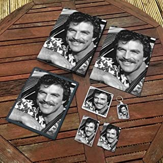 Tom Selleck - Original Art Gift Set #js002 (Includes - A4 Canvas - A4 Print - Coaster - Fridge Magnet - Keyring - Mouse Mat - Sketch Card)
