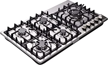 Deli-kit DK258-A08 34 inch Gas Cooktop gas hob stovetop 5 burners LPG/NG Dual Fuel 5 Sealed Burners Stainless Steel 5 Burner Built-In gas hob 110V AC pulse ignition gas stove