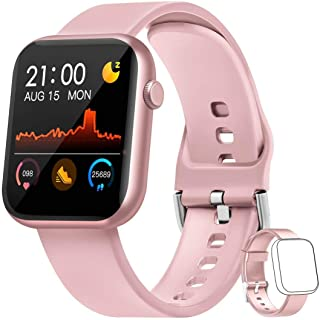 WWDOLL Smartwatch, 1.3 Pulgadas Reloj Inteligente Mujer Hombre, Reloj Deportivo con Pulsómetro, Cronómetro, Presión Arteri...