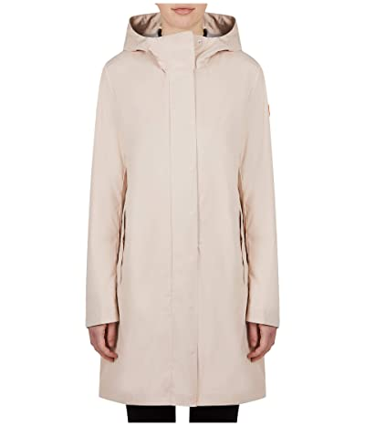 Save the Duck Bark X Long Hooded Coat (Powder Pink) Women