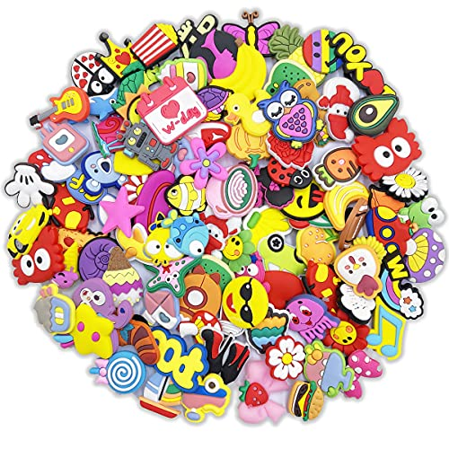 150 pcs Cute Different Shoe Charms for Kids Shoe Decoration Party Gifts for Boy and Girl
