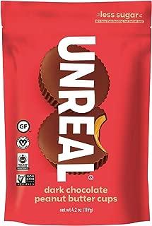 UNREAL Dark Chocolate Peanut Butter Cups   Less Sugar, Vegan, Gluten Free   6 Bags