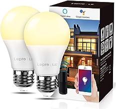 LE Smart Ledlamp Wifi E27 gloeilamp 9 W komt overeen met 60W dimbaar warm licht 2700K 806 LM, compatibel met Alexa, Echo e...