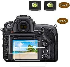 D850 D810 Screen Protector for Nikon D850 D810 D800e D800 D750 D610 D600 D500 Camera [3Pack],ULBTER with Hot Shoe Cover,0.3mm 9H Hardness Tempered Glass Flim,Anti-scrach Anti Fingerprint Anti-Dust
