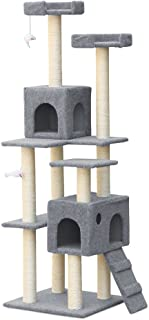 Cat Scratching Tree Post Scratcher Pole Furniture House Toy Carpeting Grey 170CM