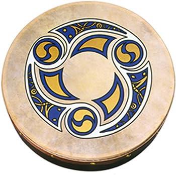 "Waltons 18"" Trinity Bodhrán - Handcrafted Irish Instrument - Crisp & Musical Tone - Hardwood Beater Included w/ Purchase"