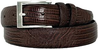 2903-BRN - Marco LTD Men's Lizard Embossed on Genuine Leather Dress Belt Big&Tall