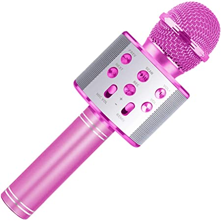 Wiwi Microphone sans Fil Bluetooth Karaoké pour Les Enfants