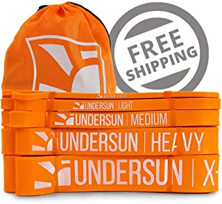 Undersun Fitness Resistance Bands by James Grage Full Body Stretching Workout/Training Band, Perfect for Strength, Powerlifting, Pull Up & Resistance Workout