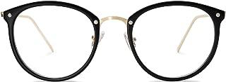 Round Non-Prescription Eyeglasses Clear Lens Glasses Eyewear Frame A5001