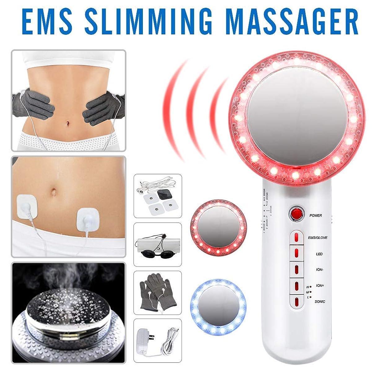 伴う芽着飾る6で1超音波キャビテーション脂肪除去機EMS痩身マッサージ用ボディヒップウエスト脚減量美容機器