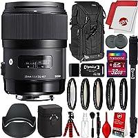 Sigma 35mm f/1.4 Art DG HSMレンズ Canon DSLRカメラ用 32GB Pro写真とトラベルバンドル