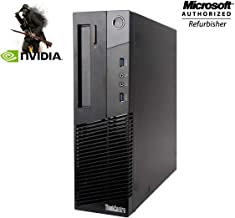 $429 » Lenovo M93P Small Form Factor High Performance Gaming Desktop Computer PC - Intel Core I7-4770 3.4Ghz - 16GB DDR3 RAM - 256GB SSD - NVIDIA GT 730 4GB DDR5 - DVD-ROM - Windows 10 Home 64-bit (Renewed)