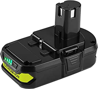 Powilling 2.5Ah Ryobi 18V Lithium Battery Pack Replacement for Ryobi 18-Volt ONE+ P104 P105 P102 P103 P107 Cordless Tools Battery