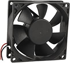 8 x 8cm Two-wire 12V DC Brushless Cooling Fan Black