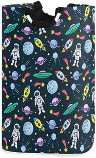 ZOMOY Grand Organiser Paniers pour Vêtements Stockage,Mignon Espace coloré Cosmonaute étoiles planètes Satellites UFO fusé...
